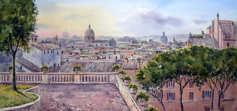 terrazza Caffarelli Painting by Jose Luis Vertiz