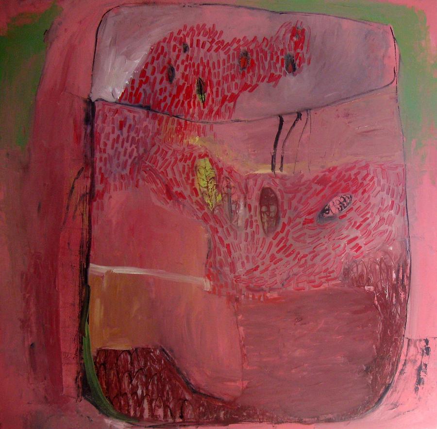 Terrarium Painting - Terrium In Pink by Brooke Wandall