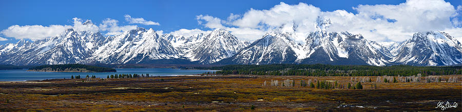 Grand Teton National Park Photograph - Teton 2012 Panorama Le by Greg Norrell