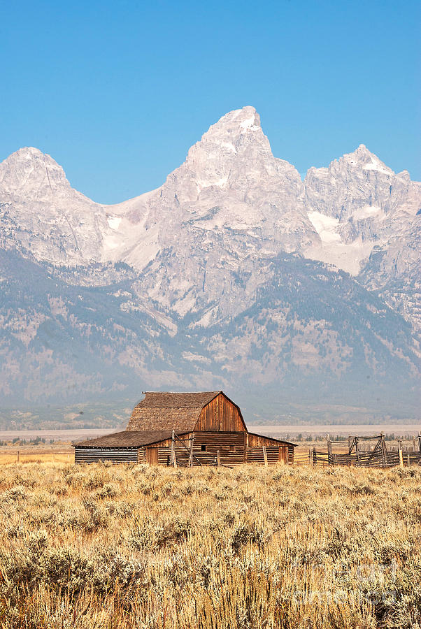 Wyoming Photograph - Teton Mormon Barn by Bob and Nancy Kendrick