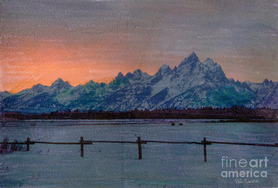 Teton Sunset by Bob Senesac