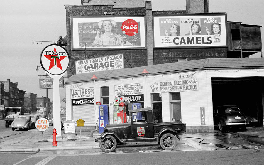 Gas Station Photograph - Texaco Station by Andrew Fare