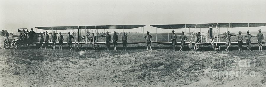 Biplanes Photograph - Texas Aero Squadron by Padre Art