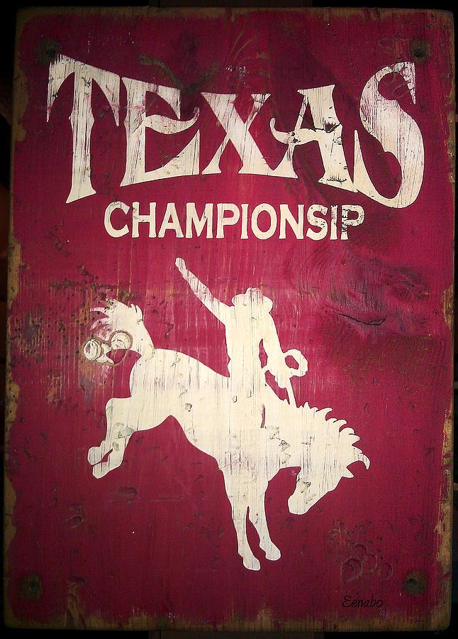 Texas Championsip Photograph by Eena Bo