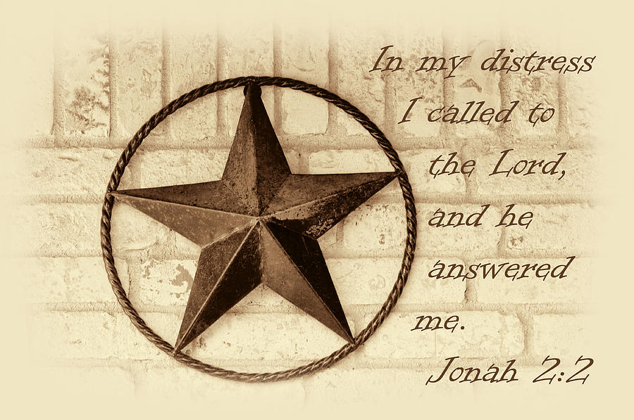 Scripture Photograph - Texas Iconic Star by Linda Phelps