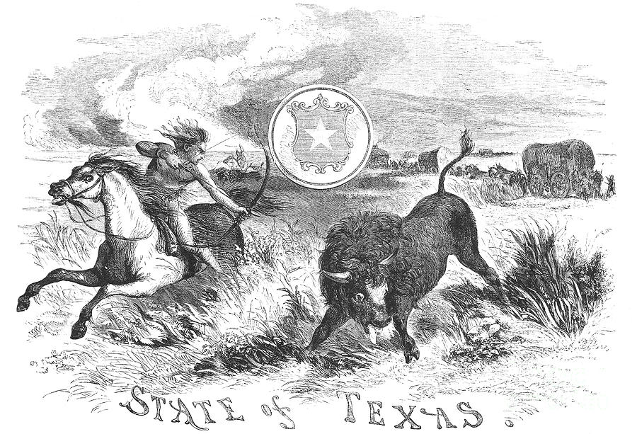 1855 Photograph - Texas Scene, 1855 by Granger