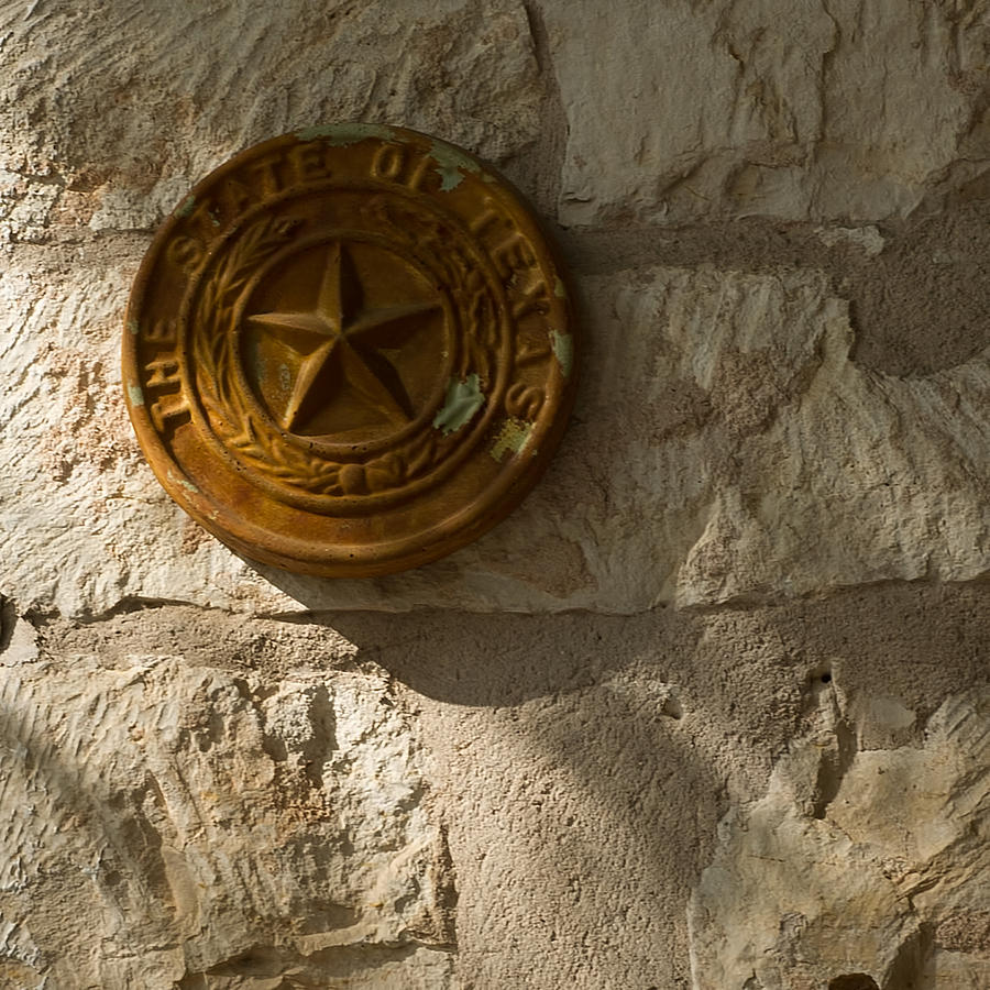 Seal Photograph - Texas State Seal by Michael Flood