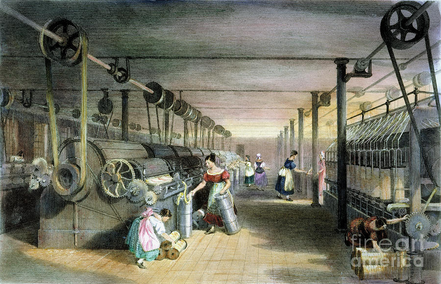 Textile Mill Cotton 1834 Photograph By Granger