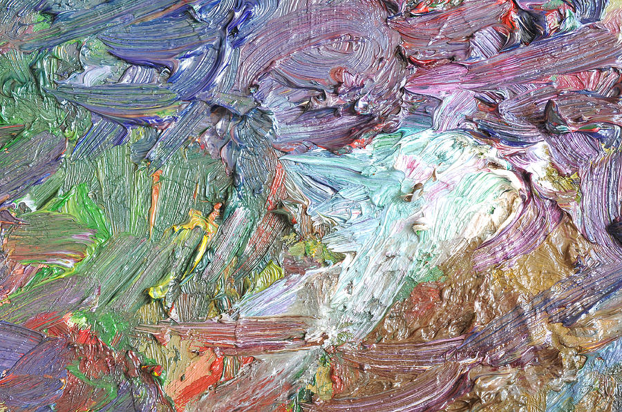 texture of oil color painting by chatuporn sornlampoo
