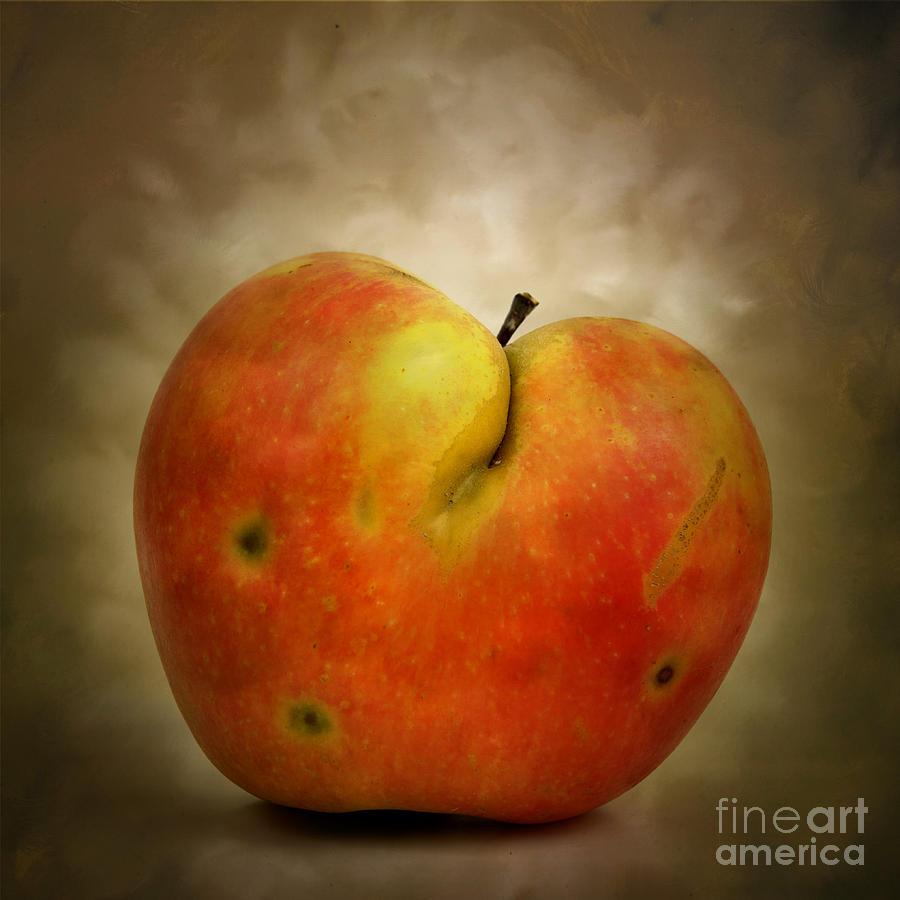 Textured Photograph - Textured Apple by Bernard Jaubert