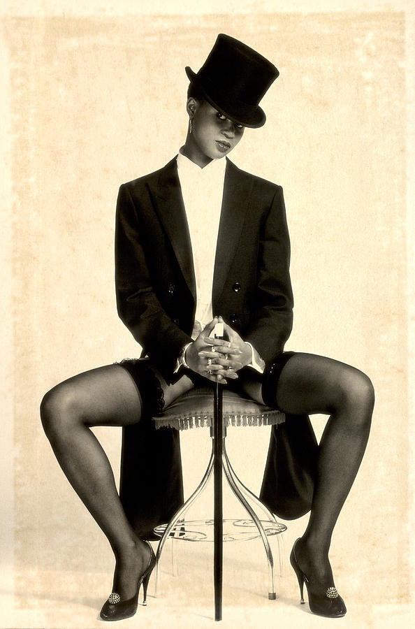 Erotic Fine Art Photograph - Textured Tuxedo by Stuart Brown
