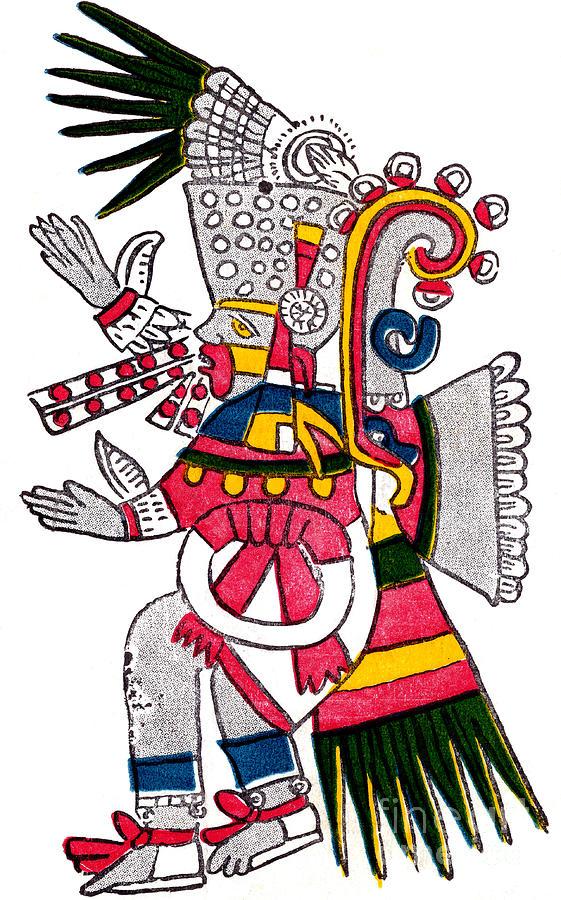 History Photograph - Tezcatlipoca, Aztec God Of Night, Codex by Photo Researchers