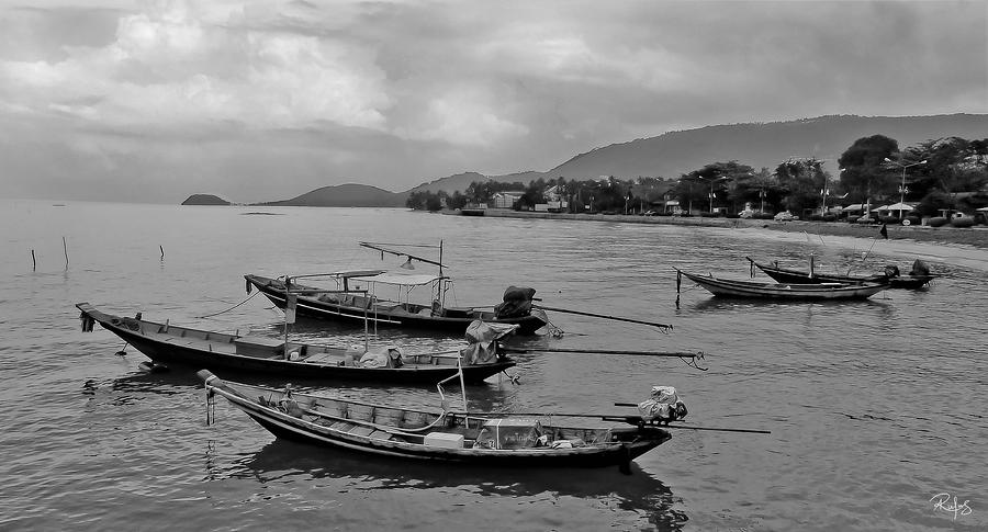 Thailand Photograph - Thai Fishing Boats by Allan Rufus