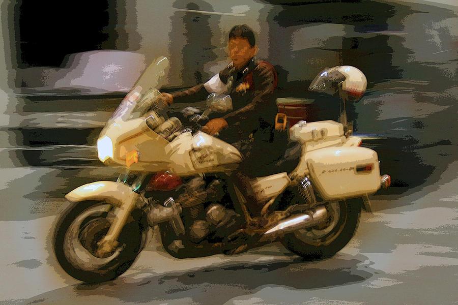 Interesting Photograph - Thai Motorbike Police by Kantilal Patel