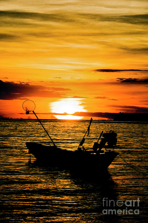 Thailand Photograph - Thai Sunset by Inhar Mutiozabal