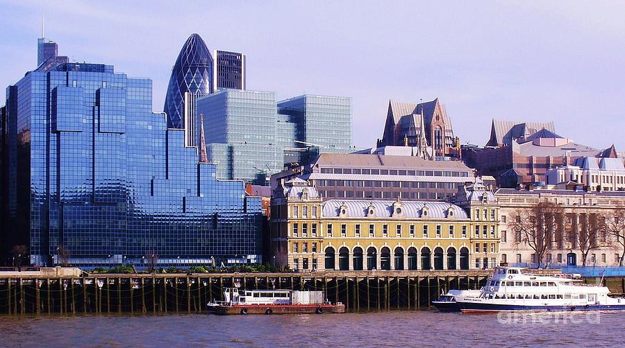 London Photograph - Thames And Financial District - London by John Clark