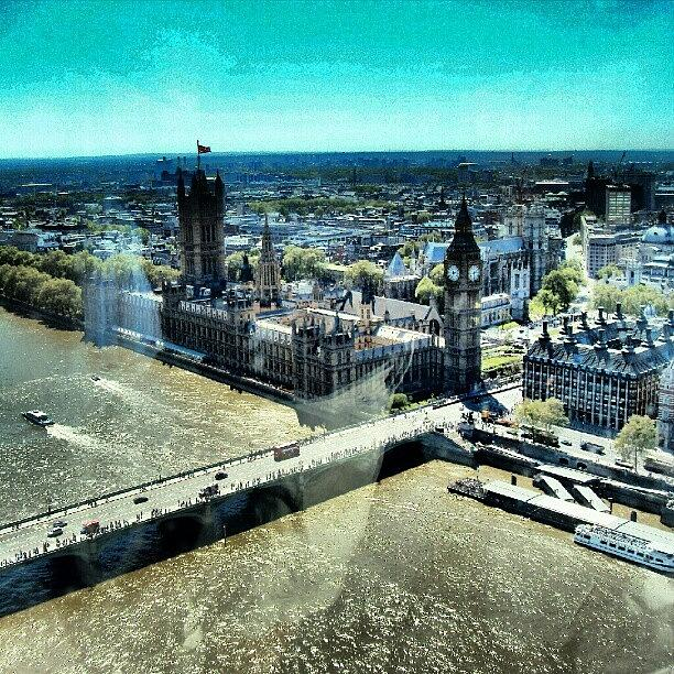 London Photograph - Thames River, View From London Eye   by Abdelrahman Alawwad
