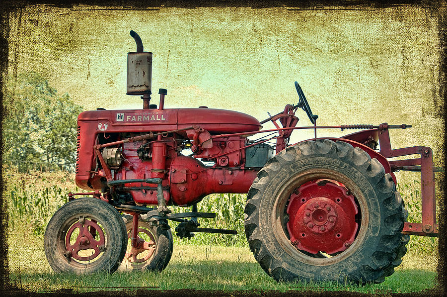 Antique Tractor Photograph - Thank A Farmer by Bonnie Barry