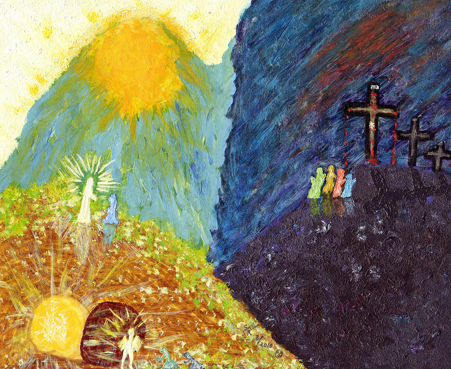 Good Friday Painting - Thank God For Good Friday And Easter Sunday by Carl Deaville