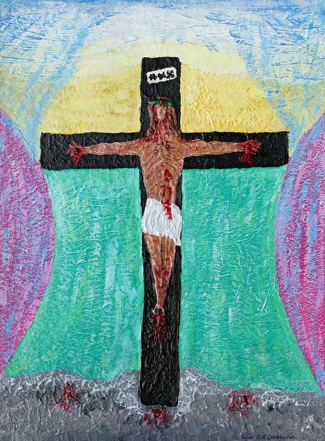 Religious Painting - Thank God For Good Friday Nineteen Ninety Nine by Carl Deaville