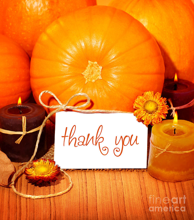 Thank You Background Thanksgiving Greeting Card Photograph