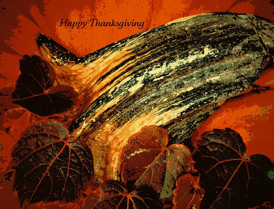 Holiday Photograph - Thanksgiving Greeting Card by Chris Berry