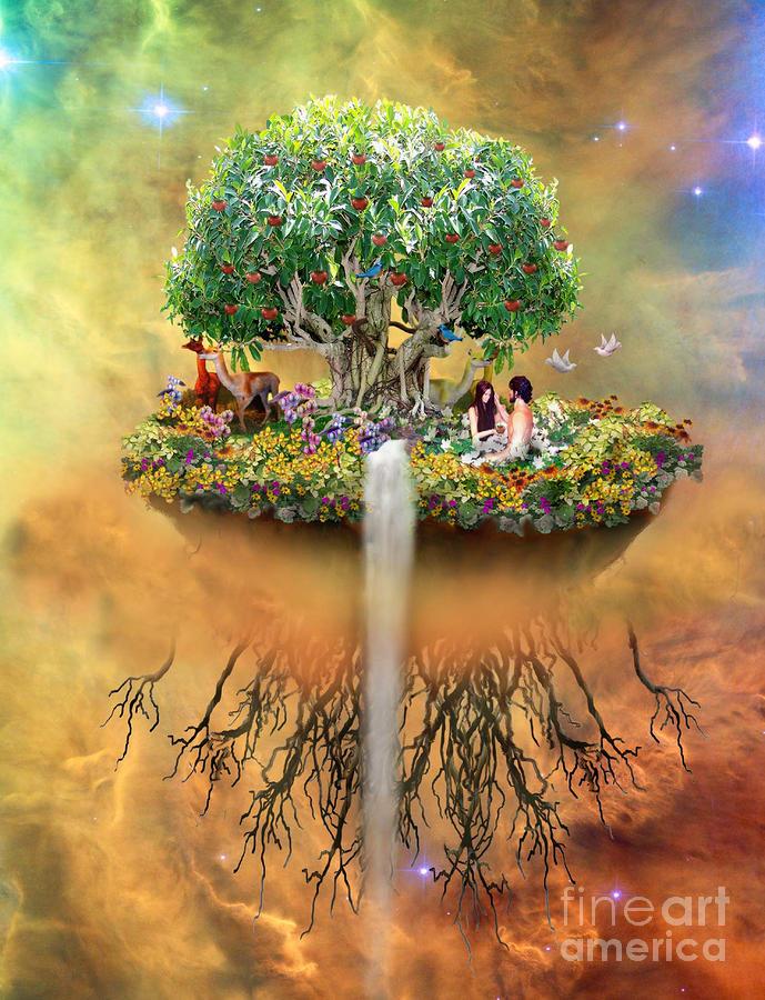 that mystical garden of eden digital art by lois mountz