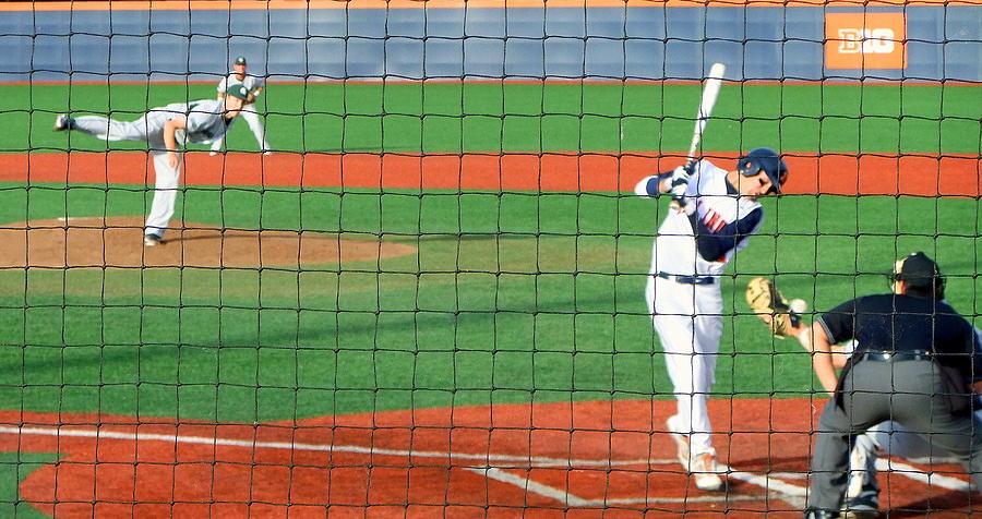 Baseball Photograph - That Was Close by Paul Svensen