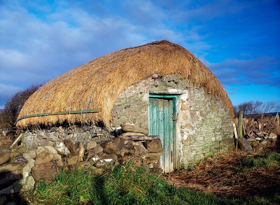 Architecture Photograph - Thatched Shed, St Johns Point, Co by The Irish Image Collection