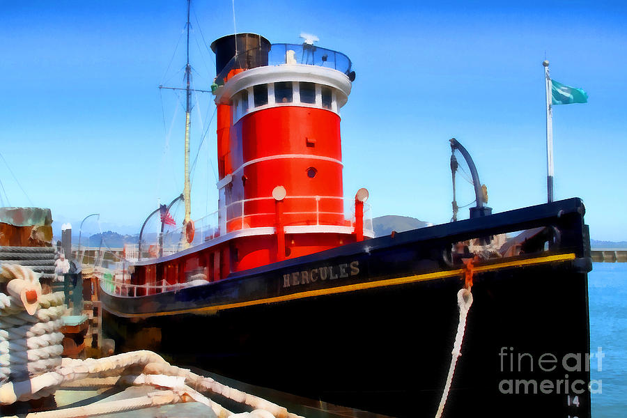 San Francisco Photograph - The 1907 Hercules Steam Tug Boat . 7d14141 by Wingsdomain Art and Photography