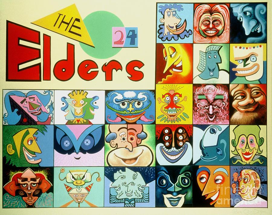 Bible Painting - The 24 Elders by Peter Olsen