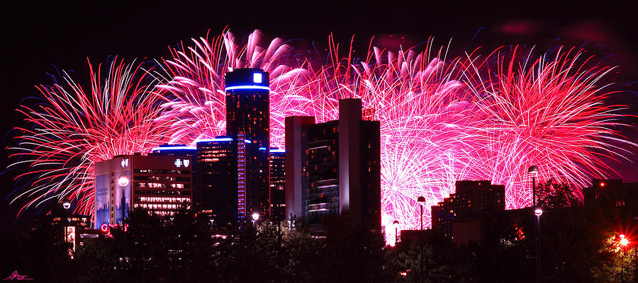 The Photograph - The 54th Annual Target Fireworks In Detroit Michigan by Gordon Dean II