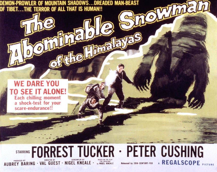 Cushing Photograph - The Abominable Snowman, Aka The by Everett