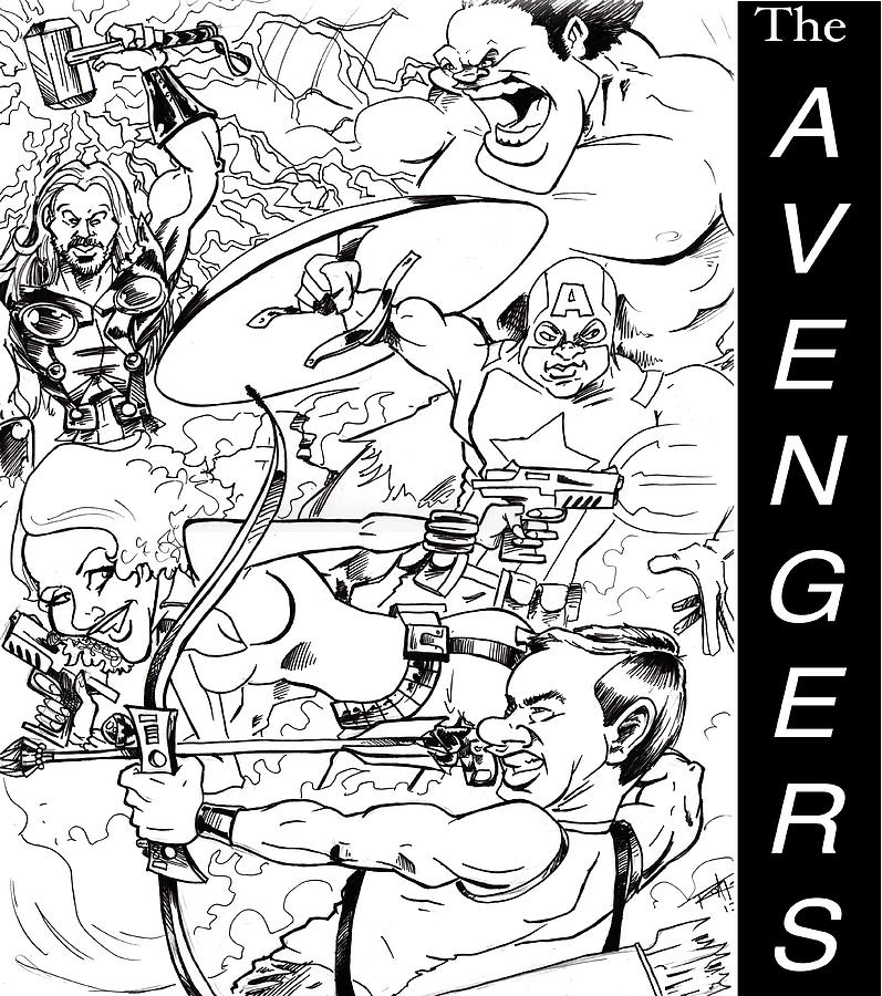 Awesome Drawing - The Advengers by Big Mike Roate