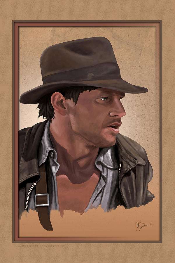 Indy Digital Art - The Adventurer by Doug Schramm