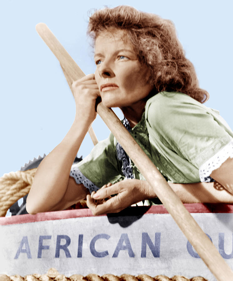 1951 Movies Photograph - The African Queen, Katharine Hepburn by Everett