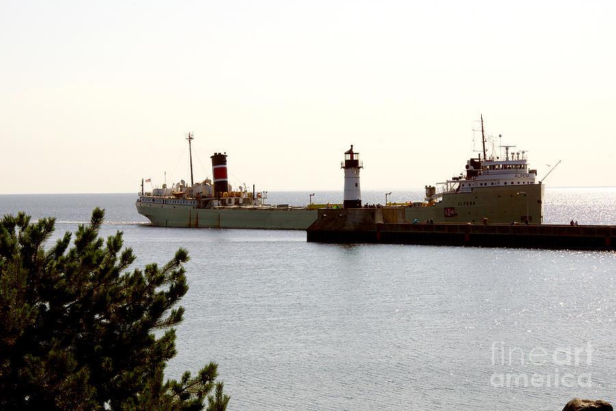 Ship Photograph - The Alpena Ship by Lori Tordsen