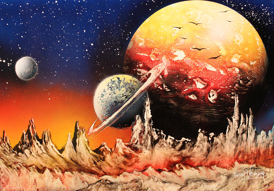 Outer Space Painting - The Alternative Side  by Tony Vegas