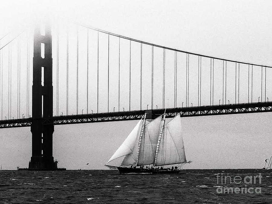 Golden Gate Photograph - The America And The Golden Gate by Patty Descalzi