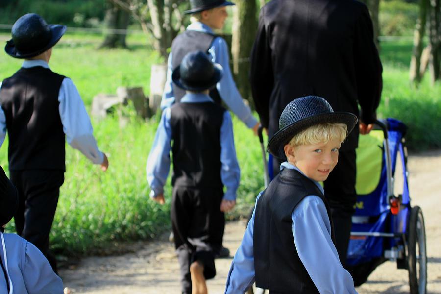 Digital Photograph - The Amish Boy by Dennis Pintoski