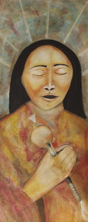 Native American Painting - The Ancestors Are Singing by Gemma Benton Jackson