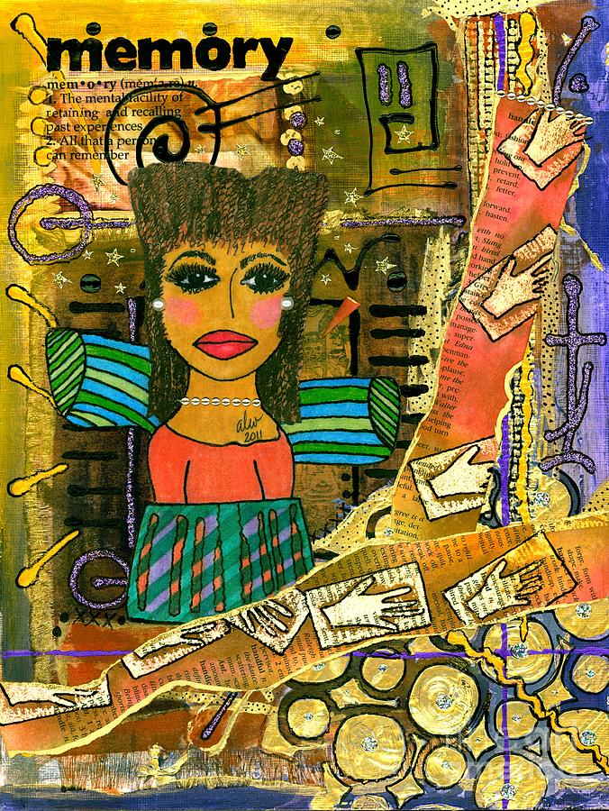 Greeting Cards Mixed Media - The Angel Of Fond Memories by Angela L Walker