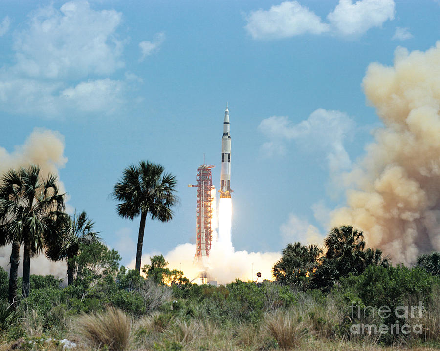 1972 Photograph - The Apollo 16 Space Vehicle Is Launched by Stocktrek Images