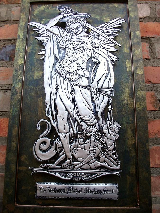 Saint Michael Relief - The Archangel Michael Weighing Souls by Cacaio Tavares