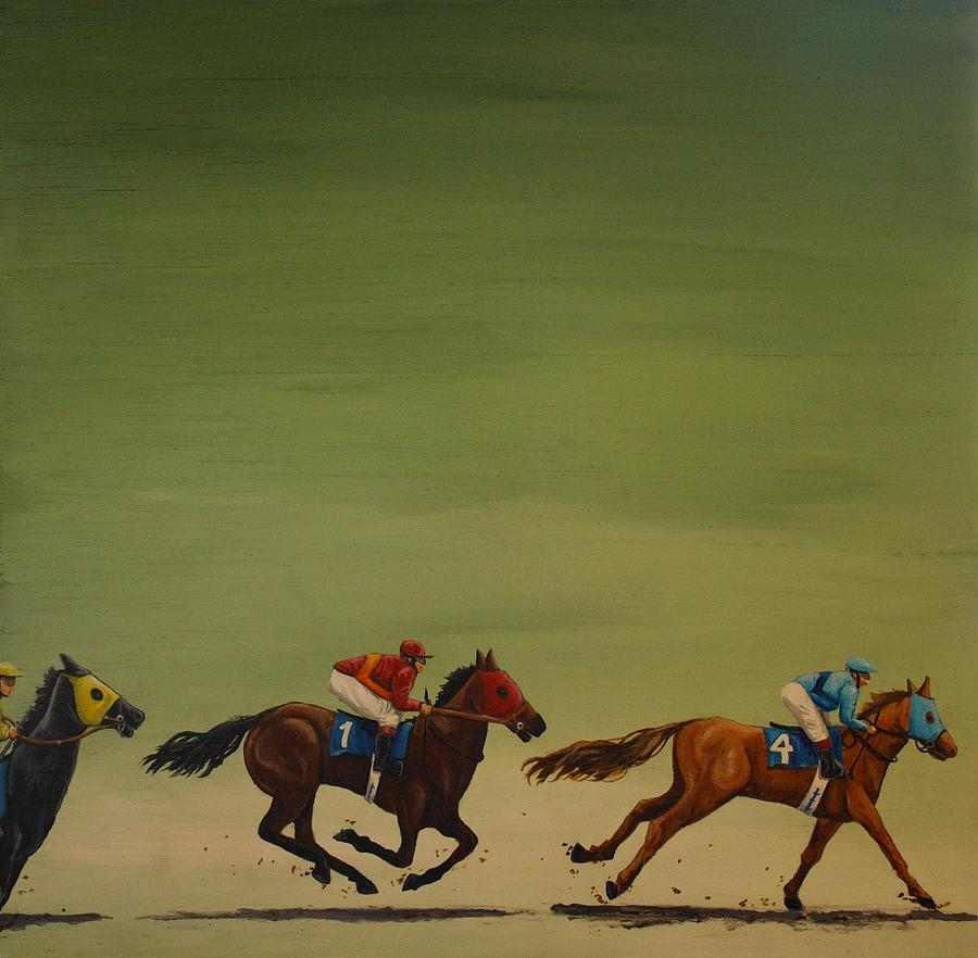Horse Racing Painting - The Art Of Racing by Jennifer Lynch
