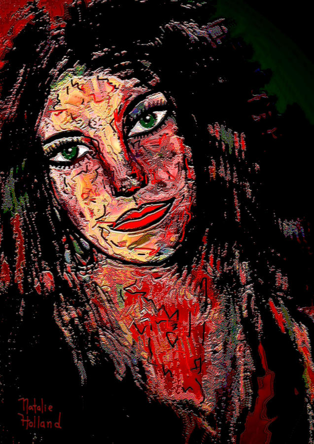 Portrait Mixed Media - The Artist by Natalie Holland