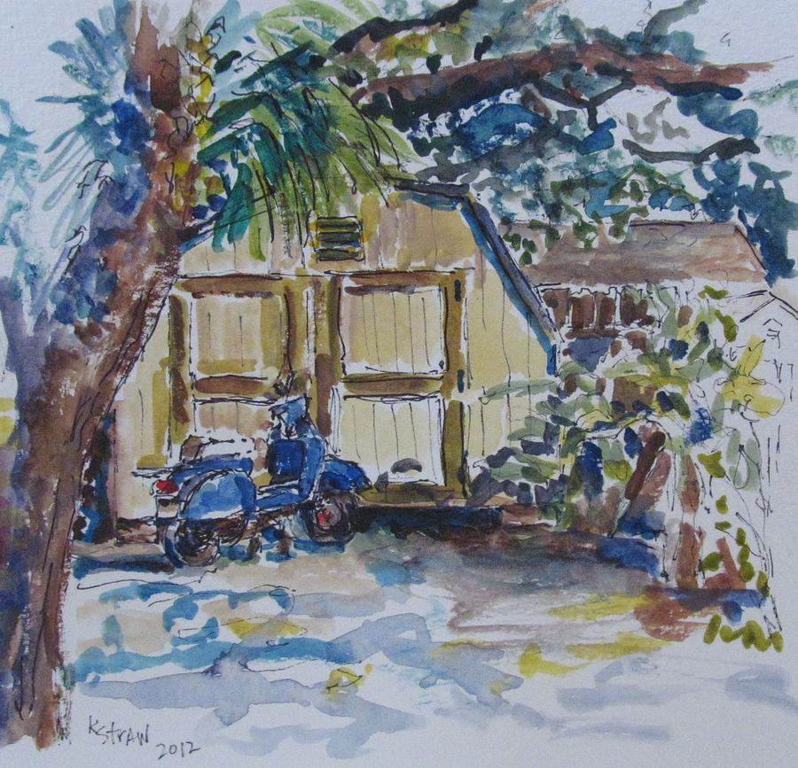 Vespa Painting - The Artists Shed by Kellie Straw