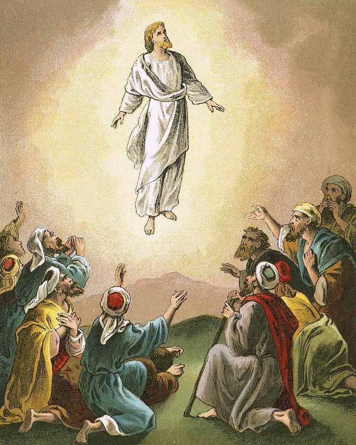 Artist Painting Jesus Ascention