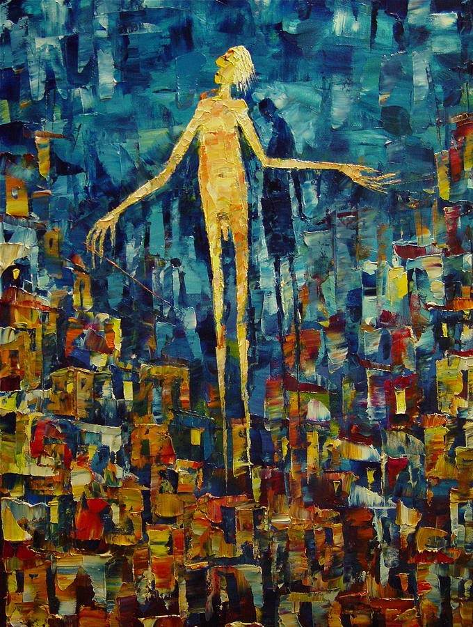 Fantasy Painting - The Ascension Of A Conductor by Avi Gorzhaltsan