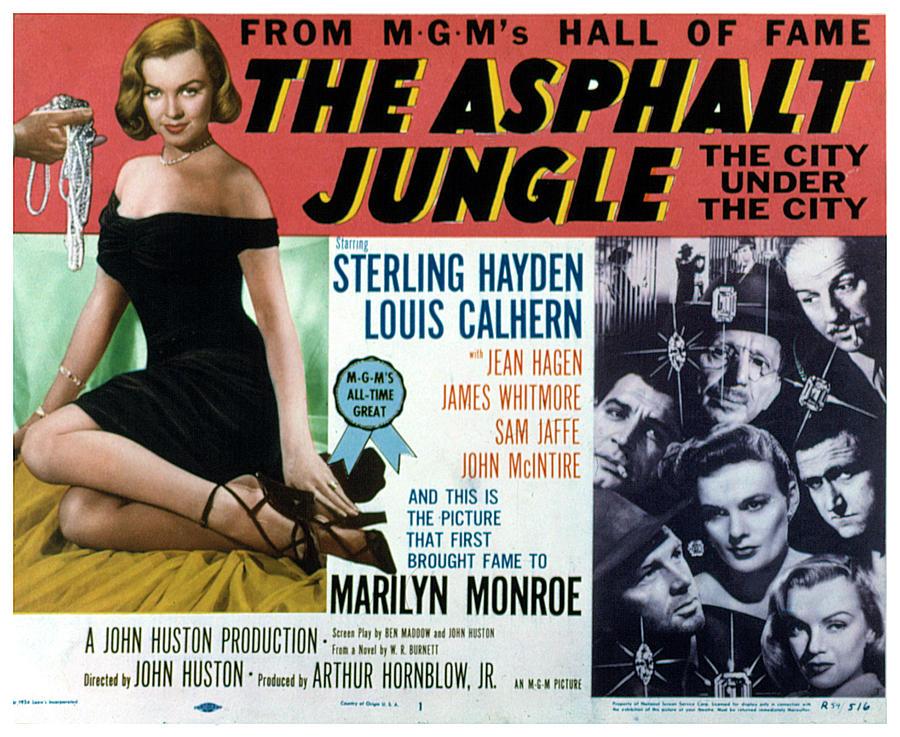 1950 Movies Photograph - The Asphalt Jungle, Left Marilyn Monroe by Everett